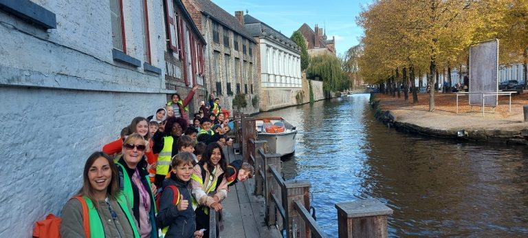 Beeld geven van uitstap in Brugge
